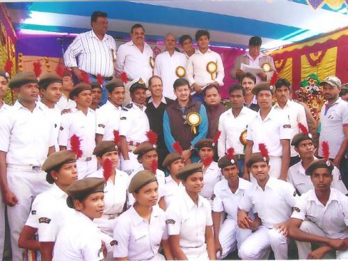 NCC Cadets with Dr. Sidhanta Mahapatra